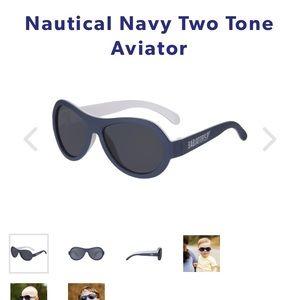 Babiators Two-Tone Aviator in Nautical Navy NWT